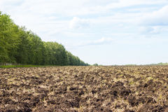 Plowing of the earth. Preparing the ground for sowing seeds. Agriculture Stock Photos