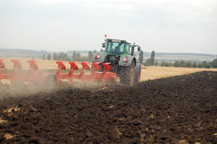 Plowing field Royalty Free Stock Image