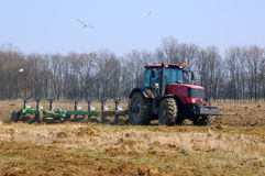 Plowing the field Royalty Free Stock Photos