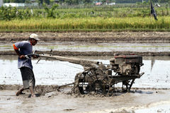 Plowing field Stock Photos