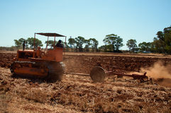 Plowing the land Royalty Free Stock Images