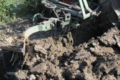 Plowing the land Stock Images