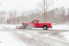 Plowing the Road stock photos
