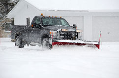 Plowing snow Royalty Free Stock Photography