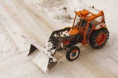 Plowing Snow  Stock Photo