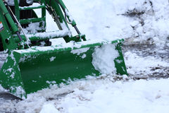 Plowing snow Stock Photo