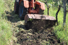 Plowing of the soil Royalty Free Stock Photos