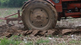 Plowing Soil with Tractor stock footage