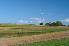 Plowing time Royalty Free Stock Image