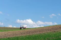 Plowing time Stock Photography