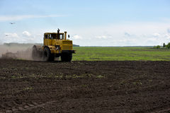 Plowing Stock Image