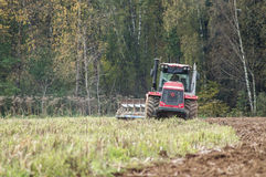 Plowing tractor. Stock Photography