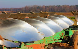 The plows. Were photographed during the harvesting Stock Photos