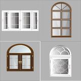 Plástico Glosed de Windows del vector Foto de archivo