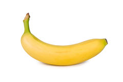 Plátano aislado Imagenes de archivo