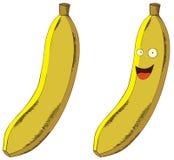 Plátano sonriente Imagen de archivo libre de regalías