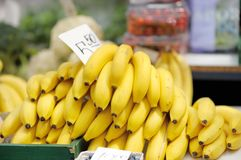 Plátanos en el mercado Imágenes de archivo libres de regalías