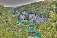 Pltvice Lakes in Croatia Royalty Free Stock Images