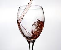 pluśnięcia czerwony wino Obraz Stock