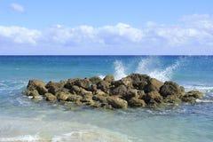 Pluśnięcia od oceanu Zdjęcia Stock