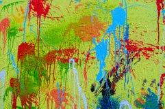 Pluśnięcia różni colours na brezentowym Holi Obrazy Stock