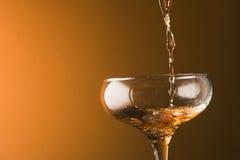 Pluśnięcia szampan Zdjęcia Royalty Free