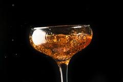 Pluśnięcia szampan Fotografia Royalty Free