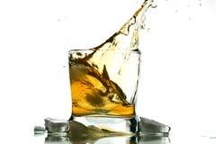 pluśnięcia whisky Zdjęcie Stock