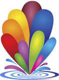Pluśnięcie colourful krople ilustracja wektor