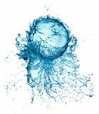 Pluśnięcie wodna piłka odizolowywająca zdjęcie stock