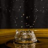 Pluśnięcie wody kropla Zdjęcie Stock