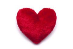Pluche rood hart Royalty-vrije Stock Afbeeldingen