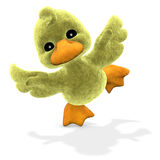 Plucheachtige Ducky Royalty-vrije Stock Foto's