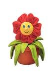 Pluchestuk speelgoed bloem in de pot Royalty-vrije Stock Afbeelding