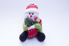 Pluchestuk speelgoed in de vorm van een sneeuwman Royalty-vrije Stock Afbeelding