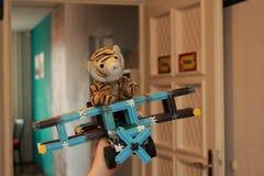 Pluchestuk speelgoed tijger Stock Fotografie