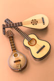 Plucked string instruments Stock Images