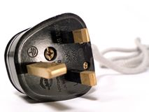 Plug. UK Mains Power Plug Stock Photos