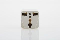 Plug adapter. Three way plug socket adapter Royalty Free Stock Images
