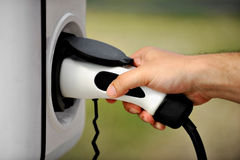 Plug-in alternative fuel concept Royalty Free Stock Image
