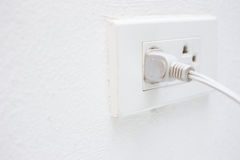 Plug. Basic plug socket for home use close up stock photography