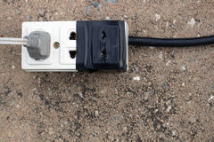 Plug of electric. Background royalty free stock photos