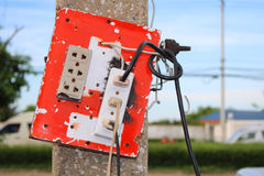 Plug of electric. Close up Plug of electric royalty free stock images