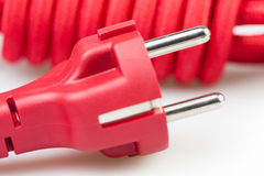 Plug electric cord Royalty Free Stock Photography