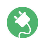 Plug energy environment design Royalty Free Stock Photography