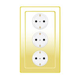 Plug in gold color vector illustration Stock Images