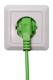 Plug in green energy royalty free stock photography