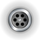 Plug hole background Royalty Free Stock Photos