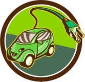 Plug-in Hybrid Electric Vehicle Circle Retro Royalty Free Stock Photos
