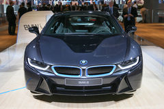 Plug-in hybrid sports car BMW i8 Stock Photo